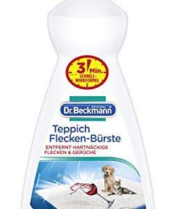Dr. Beckmann Teppich Flecken-Bürste (1x 650 ml), Teppichreiniger zur Entfernung selbst hartnäckiger Flecken und Gerüche, inkl. Bürstenapplikator